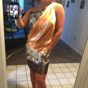 Robert Rodriguez multi colored pocket dress.